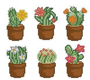 Схемы для вышивки крестом кактус