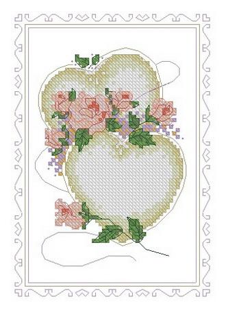 Схема вышивка крестом день свадьбы