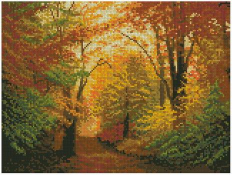 Золотая осень вышивка крестом схемы