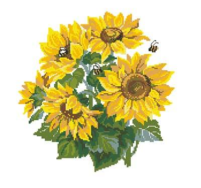 Подсолнухи и пчелы