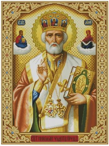 Святой николай схема вышивки крестом