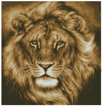 Бесплатные схемы для вышивки крестом лев