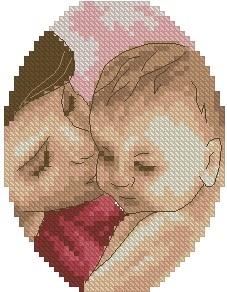 Схемы для вышивки крестом мама и малыш