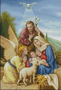 Схема вышивки католических икон