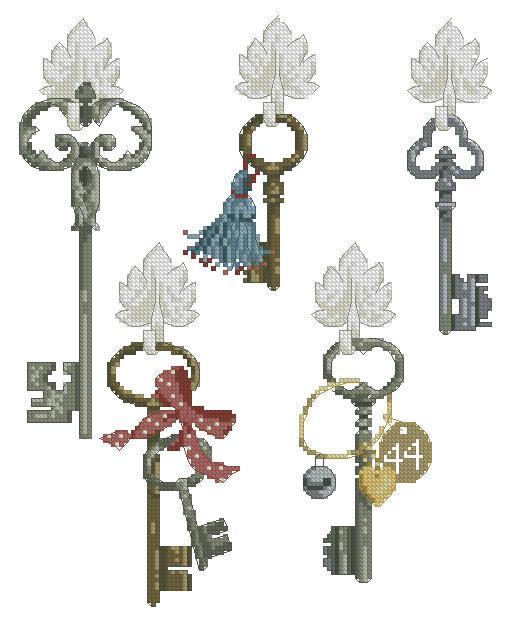 Вышивка крестом схемы ключниц
