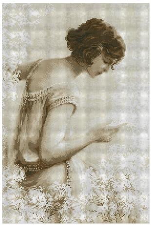 Старая фотография письмо схема для вышивки