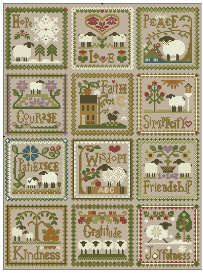 Вышивка крестом схема календарь
