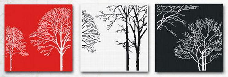 Триптих деревья схема вышивки крестом 39