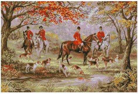 Вышивка охота на лис скачать