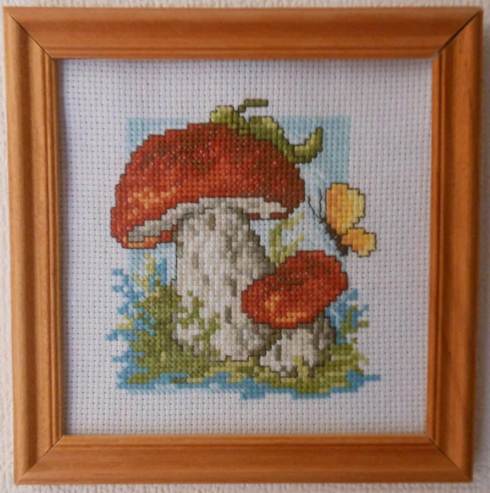 Наборы для вышивка крестом грибы